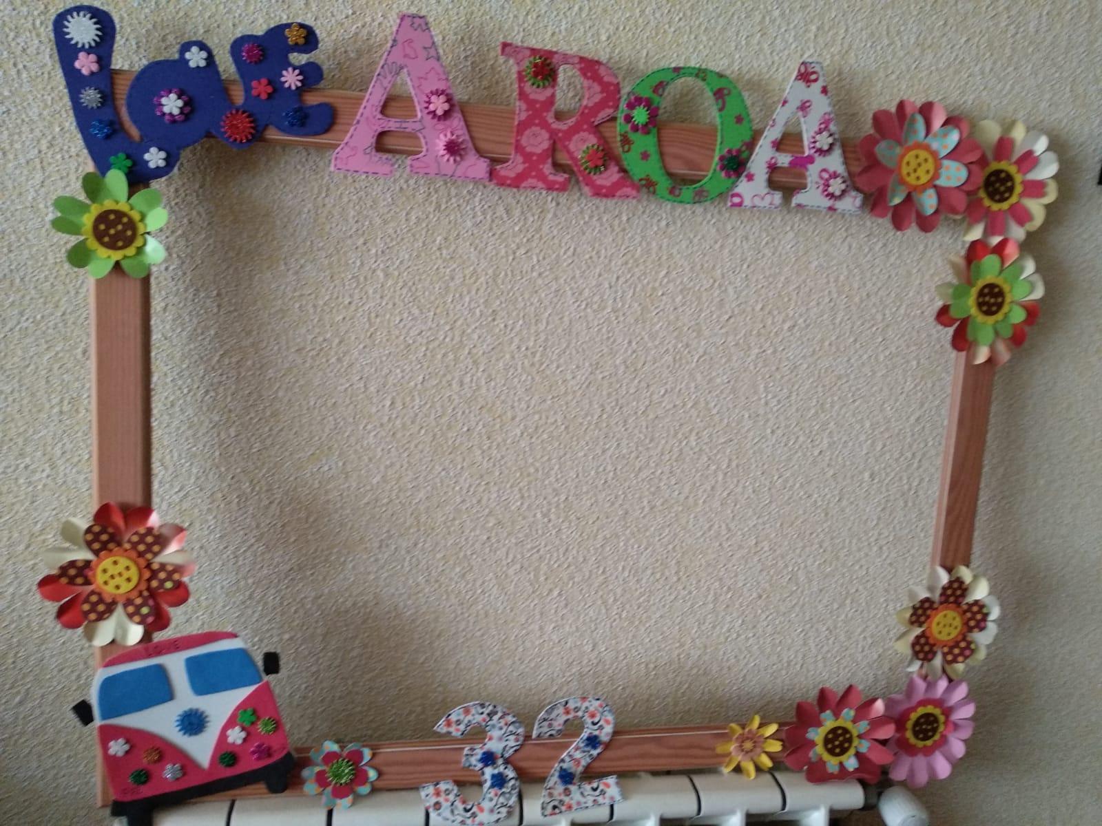 Photocall para el cumpleaños de Aroa
