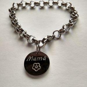 Pulsera Acero Frase «Mamá»