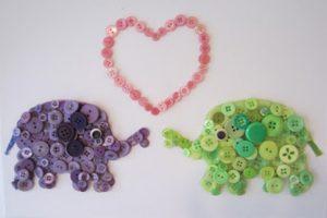 Entretenidos cuadritos infantiles con botones