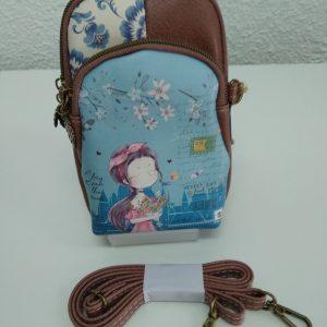 Bolso para móvil muñeca color azul